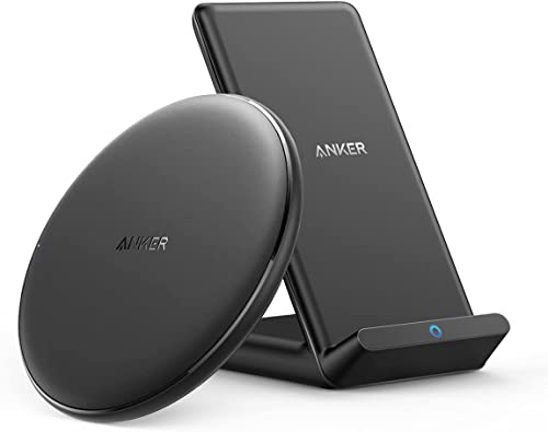 discount Anker Wireless Chargers Bundle, PowerWave Pad & Stand Upgraded, Qi-Certified, Fast Charging iPhone high quality 12, 12 Mini, 12 Pro, online sale Max, SE, 11, 11 Pro, 11 Pro Max, Xs Max, Galaxy S20, Note 10 (No AC Adapter) online sale