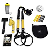 TRX All In One Home Gym Bundle: Includes All-In-One Suspension Trainer, Indoor & Outdoor Anchors, TRX XMount Wall Anchor, 4 Exercise Bands & Shaker Bottle​