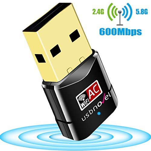 USBNOVEL Wlan Stick AC600 Dual Band 5GHz 433Mbps/2.4GHz 150Mbps USB Wireless Adapter