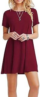 Damen Vintage Stehkragen Langarm Bodycon Business Bleistift Kleid Knielanger Rock Hals nach unten drehen Langarm l/ässige Arbeit Formelle Kleidung URIBAKY