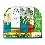 Herbal Essences Mascarilla Pelo Pack + Gorro De Ducha Reutilizable, Mascarilla Paraiso de Hidratación, Mascarilla Doma el Encrespamiento