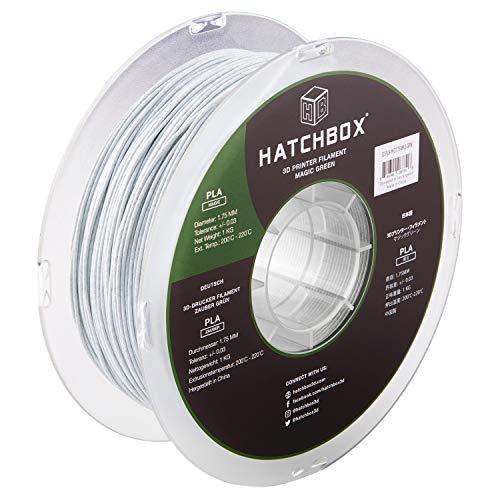 HATCHBOX Magic Stone PLA 3D Printer Filament, Dimensional Accuracy +/- 0.03 mm, 1 kg Spool, 1.75 mm, Green