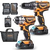VonHaus MAX 20V Cordless Hammer Drill and Impact...