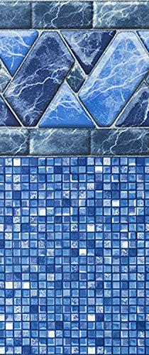 Smartline Stone Harbor 27-Foot Round Pool Liner | UniBead Style | 52-Inch Wall Height | 25 Gauge Virgin Vinyl Material |...