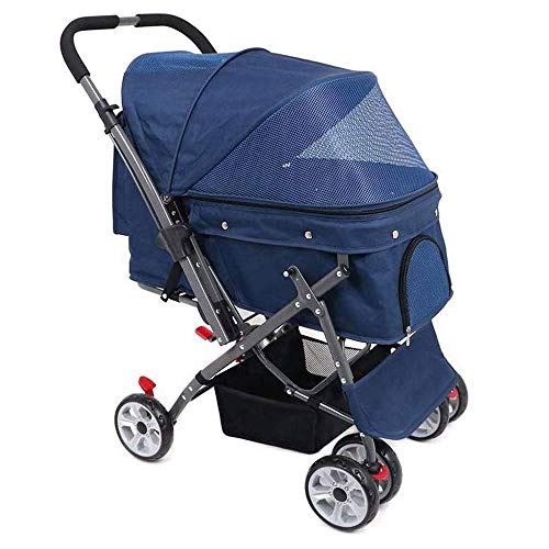 SMLZV Pet Strollers for Small Medium Dogs & Cats with Convertible - Carriages Best for Cat & Large Puppy