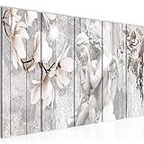 Decoración de la mesa pared de la vendimia Angelo - 150 x 60 cm Vista de impresión en lienzo Salón Apartamento - listo para colgar - 005956c