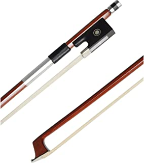 ADM 1/2 Half Size Well Balanced Brazilwood Violin Bow with Wood Stick, Horsehair, Ebony..