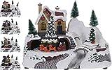 Escena navideña, con movimiento y luz, Polystone, varios diseños