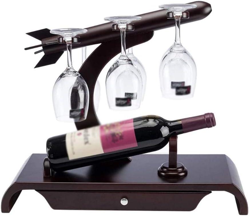 Translated TWDYC Classic European Creative Wine Rack Upside Down W Glass