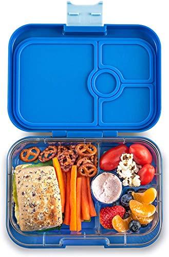 Yumbox Panino M Lunchbox (True Blue, 4 Fächer) - Brotdose mit Unterteilung | Bentobox mit Trennwand Einsatz für Schule und Kindergarten Kinder, Picknick, Arbeit sowie Uni