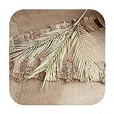 who-care 70 cm de hoja de palma de coco plantas artificiales de hojas de flores falsas para bodas, fiestas de Navidad, decoración del hogar, bricolaje, champán claro