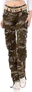 GAGA Womens Autumn Cargo Pants Loose Multi-pocket Outdoors Trousers