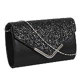 Kadell European And American Fashion Chain Bag Ladies Clutch Bag Evening Party Bag Black L
