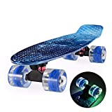 22 pouces planche à roulettes Cruiser Board Bamboo Board 22 'X 6' rétro Longboard Skateboard graphique complet Galaxy Boy Girl...
