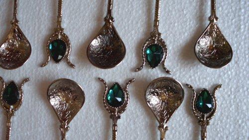 türkisch-osmanischen Stil Kupfer Löffel (grün)