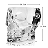 LYCIL Skull Acrylic Ice Bucket,Brainfreeze Skull Ice Cube Bucket Transparent Plastic Champagne Bucket Sustainable Wine Cooler Bucket with Ice Tong 1.5L A