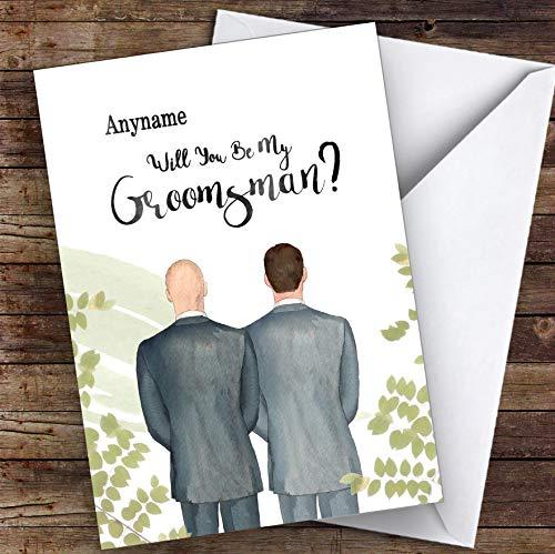 Kaal wit bruin haar zal je mijn huisgenoot gepersonaliseerde groeten trouwkaart