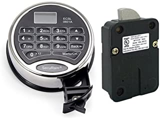 SecuRAM Prologic L02 Safe Lock & Keypad for Safes. Allows Time Delay, Up to 30 Users, Dual Control. Has Backlit LCD Screen with Voltmeter. Fits Most Safes.