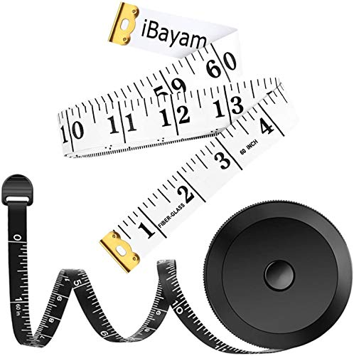 Double Scale Measuring Tape Gift for Mom Women Men Weight Loss Medical, Centimetre Scale on Reverse Side 60-inch