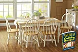 Oak Dining Set a 7 Piece Traditional White and Natural...