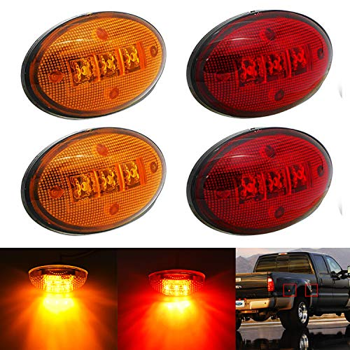 KEING Dually Bed Fender Side Marker LED Lights For Ford 1999-2020 F250 F350 F450...