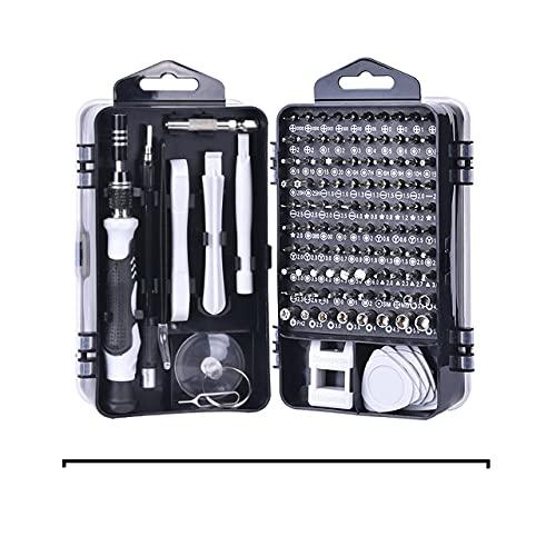 Juego de destornilladores 115 en 1 Punta de destornillador Brocas magnéticas Destornilladores Mango Reparación de teléfonos Kit de herramientas manuales-ESPAÑA, 115 EN 1 NEGRO