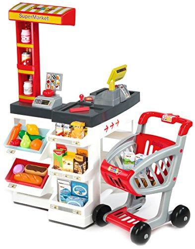 Smoby 24069 - Supermarkt mit Einkaufswagen