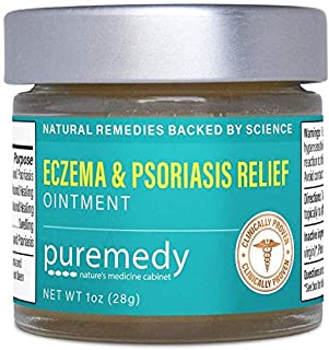 Puremedy Eczema and Psoriasis Relief Ointment, Homeopathic Remedy for Temporary Soothing Relief of Dry, Itchy Skin (2oz)