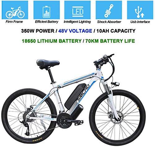 CXY-JOEL Bicicletas Eléctricas para Adultos, Bicicleta de Bicicleta Eléctrica de Aleación de Aluminio de 360 Vatios Desmontable 48V / 10Ah, Bicicleta de Montaña con Batería de Iones de Litio/Bici