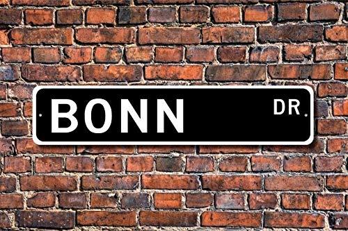 Unknow Bonn, Bonn regalo, señal de Bonn, recuerdo de visitante de Bogotá, Bonn traveler, nativo de Alemania, ciudadano de Bonn, cartel de calle personalizado, señal de metal de calidad