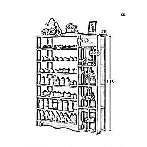 NA Huishoudelijke Houten Schoenenrek, Schoenenkast, Hoge Capaciteit Woonkamer Opslagrek met Lade Bespaar Ruimte, Eenvoudige Thuis Deur Schoenrek