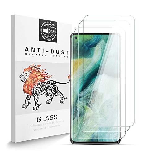 Panzerglas Schutzfolie für OPPO Find X2 NEO, 9H-Festigkeit Tempered Glass, Anti-Kratzer, Einfache Installation, Bruchsicher Bildschirmschutzfolie für OPPO Find X2 NEO [3 Stück]