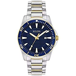 Blue Dial With Blue Anodized Unidirectional Bezel Three-hand Date Feature Flat Mineral Crystal Water-resistant To 100 Meters (330 Feet)