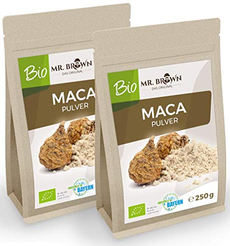 MR. BROWN BIO Maca poeder uit Peru 500 g fijngemalen