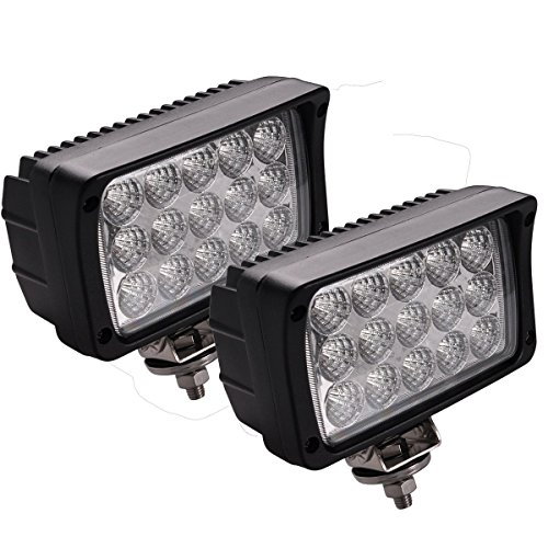 Faros de Trabajo Led,JieHe 45W Luces Trabajo Led Flood LED Light Bar Montaje de luces de antiniebla IP67 4500LM Impermeable para Off-Road, Camión,Coche, ATV, SUV, Barco (45W)