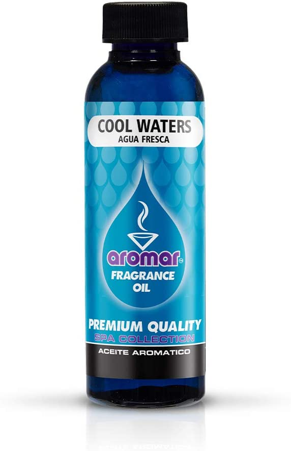AROMAR Premium Fragrance Oil, Pack of 3 Cool Waters 2oz. Bottles. Long Lasting Aromatic Scent, Fresh and Revitalizing Aromatherapy for Living Room, Bedroom, and Kitchen