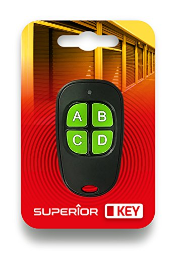 Superior Electronics SUPRF003 Key, universele afstandsbediening met vier kanalen, frequentie 433,92 MHz, vaste code