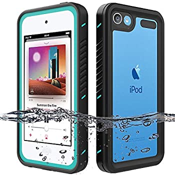 iPod Touch Waterproof Case for iPod Touch 7 Touch 6 Touch 5 Case OWKEY Full Body Rugged Case Protection Built in Screen Protector Shock Dirt Snow Proof Protective Cover for iPod Touch 7th/6th/5th Gen