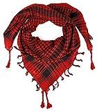 LOVARZI Bufanda para hombre y mujer Rojo - Pañuelo para niños y niñas - Bufanda palestino