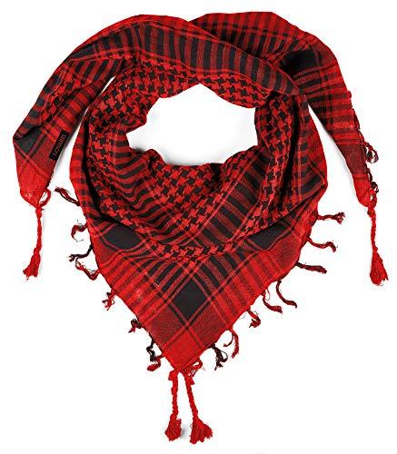 LOVARZI Rot Palästinenser Tuch - Damen und Herren Schal - Stylische vielfältige Palästinenser-Tuch