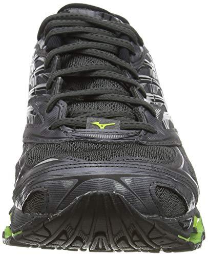 Mizuno Wave Prophecy 8, Zapatillas de Running Mujer, Negro (Dark Shadow/Silver/Safety Yellow 05), 44.5 EU