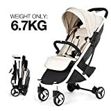 Allis Lightweight Pram Travel Stroller Baby Pushchair Buggy Plume - Beige