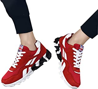 FidgetGear Men Casual Mesh Surface Sneakers British Flag Breathable Sports Shoes Outdoor Wear red 39