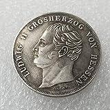 1936,Alemania,Taylor Luther,Moneda Conmemorativa Bañada en Plata,Desgastada,de Alta Calidad,Estante de Colección,2 Piezas Artesanía Fina/Plata / 2 Piezas