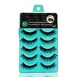 Scala 5 pairs /set 3D False Eyelashes Messy Cross Thick Natural Fake Eye Lashes Professional Makeup Tips Long False Eye Lashes (K09)