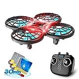 Loolinn | Dron para Niños - Mini Drone Cuadricóptero RC con Tecnología Anti-Colisión Automática / Acrobacias con Giro de 360° / Tiempo de Vuelo de 30 Minutos ( Tres Pilas Incluidas )