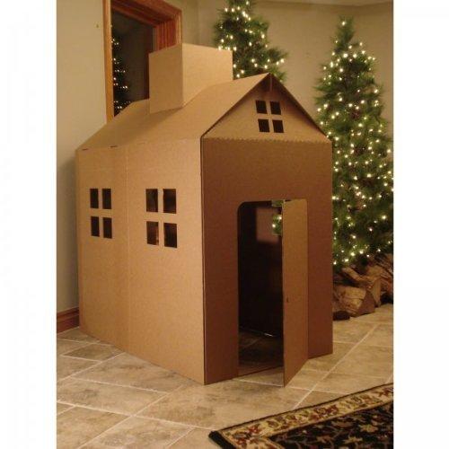 Amazoncom Cardboard Playhouse Corrugated Box Play House