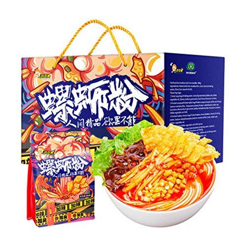 HaoHuanLuo snail powder Liuzhou Snail Powder, Guangxi Specialty Rice Noodles Luosifen, Handgezogene Nudel?Instant-Nudeln?Nudeln mit gekochtem Essen (Verbesserte Version plus würzige 400g,10 Packungen)