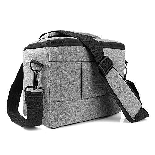 Andoer Bolso para Cámara DSLR/SLR Impermeable, Bolsa de Transporte de Hombro Acolchada, Bolsa Estuche Antichoque para Accesorio de fotografía, Gris