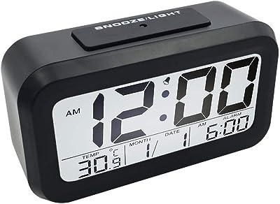 YB Innovación Tecnología de luz Inteligente Visión Nocturna Lectura fácil numérica en Negrita Reloj Despertador Digital
